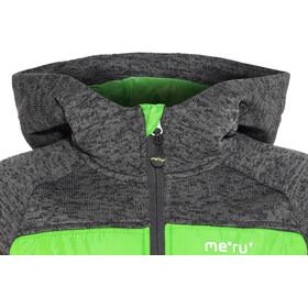 Meru Prag Knitted Fleece & Padded Jacket Kids, carbon/green